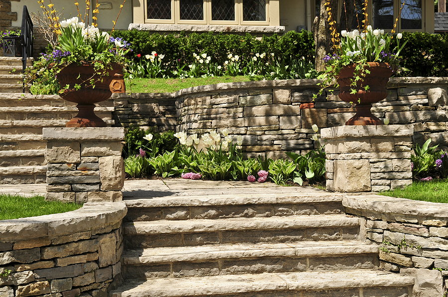 natural brick stone for landscaping