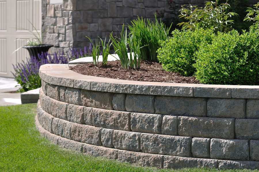 brick concrete stones for landscaping